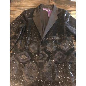Ralph Lauren Sequin Blazer Black Size 14